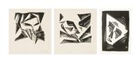 colombine (kolombína; jester (bajazzo); mask (maska) (3 works) by vlatislav hofmann