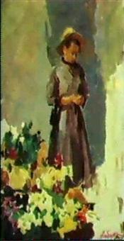 la vendeuse de fleurs by piotr alberti