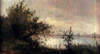 paysage de bord de rivière by paul morizet