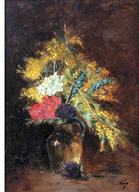 bouquet of field flowers by louise berthe fouet
