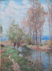 paysage franc-comtois by marie-victor-emile isenbart