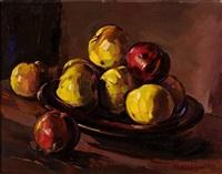 stilleben mit äpfeln by peter august böckstiegel