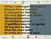 honey, i rearranged the collection... by allen ruppersberg