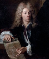 portrait de louis de boullogne (1654 - 1733) by gilles allou