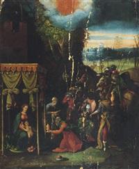 the adoration of the magi by battista (de luteri) dossi