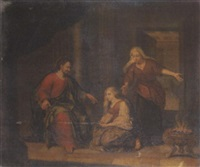 christ in a house of martha and mary by hendrik heerschop
