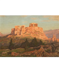 a view of the acropolis by georg macco