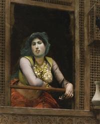 femme au balcon by jean-léon gérôme