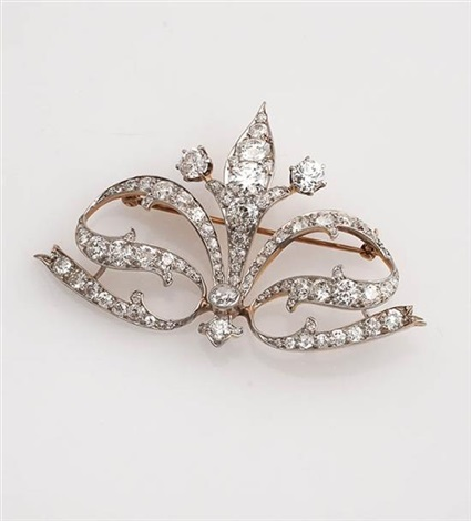 21dd6a09c edwardian platinum-topped, yellow-gold and diamond tiara-brooch, tiffany &