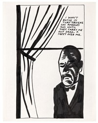 untitled (i won't bathe...) by raymond pettibon