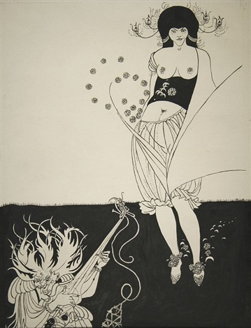 harem girl by aubrey vincent beardsley