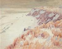 greenport shore in winter by whitney myron hubbard