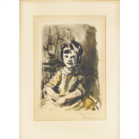 portrait of a seated young girl by george benjamin luks