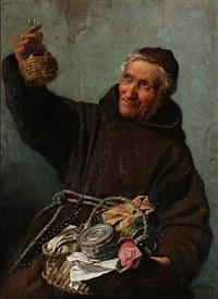 a monk with a basket by wenzel ulrik tornoe