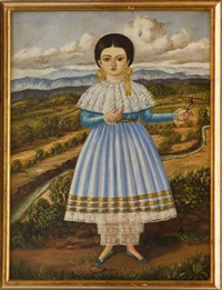 niña con vestido azul by horacio rentería rocha