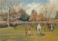 the paddock, fontwell park by neil cawthorne