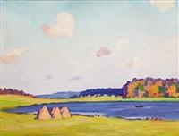 bord de rives by ivan ivanovich godlevsky