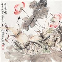 采莲图 by jia guangjian