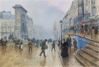 le boulevard saint-denis à paris by jean béraud