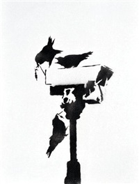 angry crows by banksy