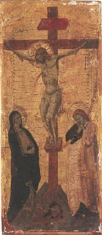 christ on the cross with the virgin and saint john the evangelist by lippo di benivieni