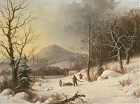gathering wood by george henry durrie