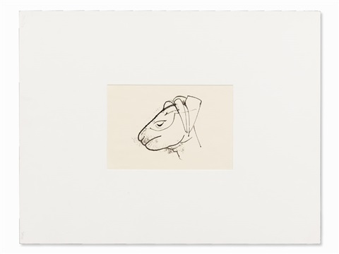 Line Drawing Of Sheep Face : Face sheep by karl hofer on artnet
