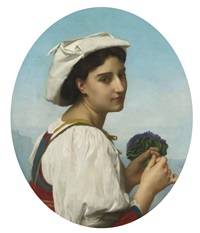le bouquet de violettes by william adolphe bouguereau