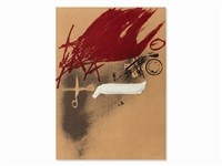 lithograph, museo granollers, spain by antoni tàpies