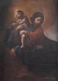 madonna in gloria con bambino by alessandro tiarini