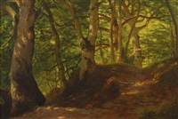 a path through the forest by albert bierstadt