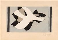 l'oiseau et son ombre iii by georges braque