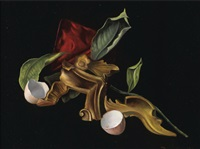 nature morte à l'œuf cassé by leonor fini