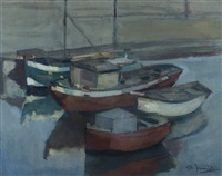 anchored boats by gerhard arnold christiaan smith