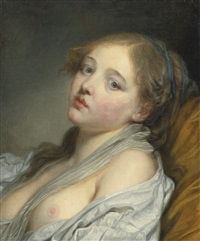 la rêveuse (bust of young woman) by jean baptiste greuze