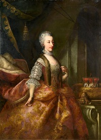 portrait of amalia, archduchess of austria by johann gottfried auerbach