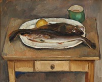 still life with fish by carl fischer