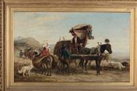 contadini con carretto by charles h. poingdestre
