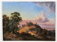 classical european landscape by hermann herdtle