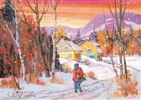vers le village by claude langevin