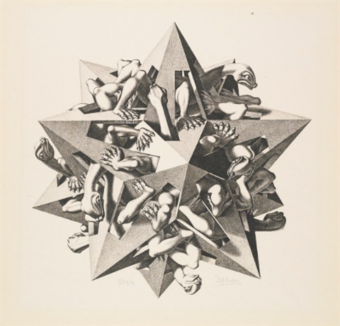 gravity by m c escher