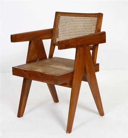 Office Cane Chairs By Pierre Jeanneret
