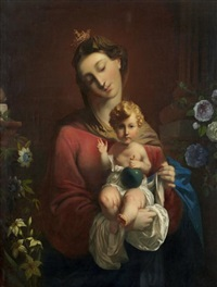 vierge à l'enfant by johann friedrich overbeck