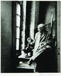 picasso dans son atelier avec les chouettes by denise colomb