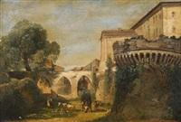 vue des fossés de jesi dans les marches, italie by jean charles joseph remond