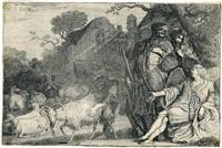 der engel verheißt abraham einen sohn by gerrit claesz bleker