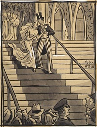 careful dear, i wouldn't want to lose you now! (new yorker) by peter arno