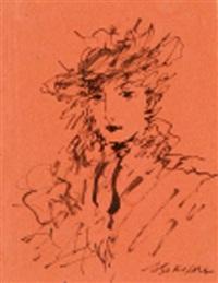 tête de jeune femme by michail ksenofontovich sokolov