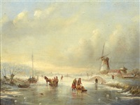 paysage d'hiver by jean (jan) michael ruyten