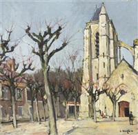a church courtyard by constantine kluge